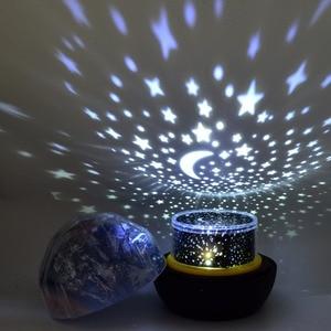 Image 2 - לילה אור רוטרי כדור הארץ קסם של מקרן מנורת LED כדור הארץ יקום צבעוני רוטרי לילה מנורת מתנת חג המולד לתינוק ילד