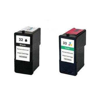 einkshop 2Pk for Lexmark 32 33 Ink Cartridge For X7350 X5450 X5210 X5470 P4350 X7170 Z810 Z812 Z815 Z816 Z818 P4330