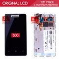 100% Тестирование в Исходном AMOLED 800x480 Дисплей Для NOKIA Lumia 800 Экран LCD Сенсорный Экран с рамкой Планшета Ассамблеи Части