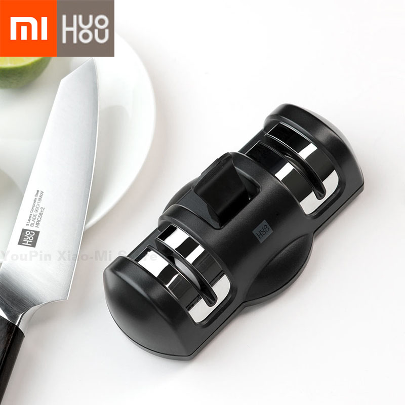 Xiaomi Mijia Huohou Knife Sharpener 2 Stages Double Wheel Sharpener Whetstone Sharpener Tool for Kitchen KnifeXiaomi Mijia Huohou Knife Sharpener 2 Stages Double Wheel Sharpener Whetstone Sharpener Tool for Kitchen Knife