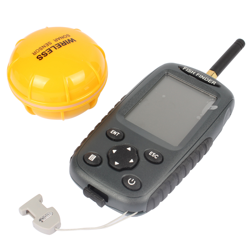 цены Russian and English Menu FF998 Wireless Fish Finder Sonar Portable Waterpoof Lake Sea Contour Thermometer Sounder Fishfinder