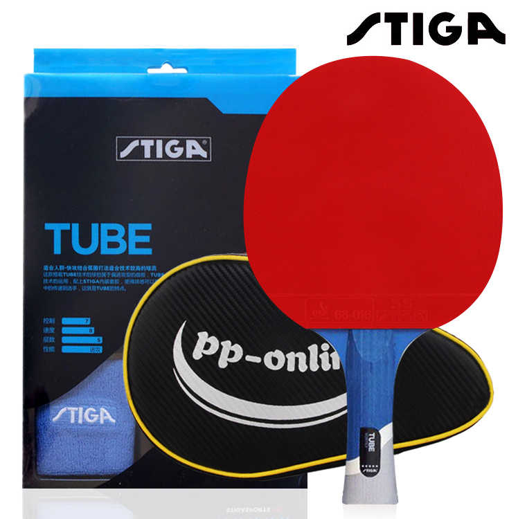 STIGA pro tube 5 STARS table tennis racket Quality Ping Pong Rackets Table Tennis Raquete ITTF Approved pimples in rubber