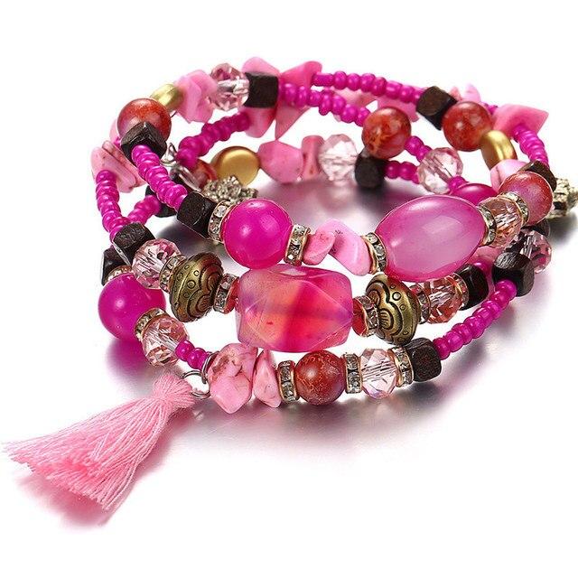 Фото janeyacy винтажные браслеты с кисточками из смолы и камня женский