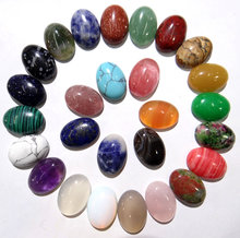 13x18mm Natural Stone Turquoises Quartz Crystal tiger eye Oval Cabochon pendant for diy jewelry making Necklaces Accessories30pc