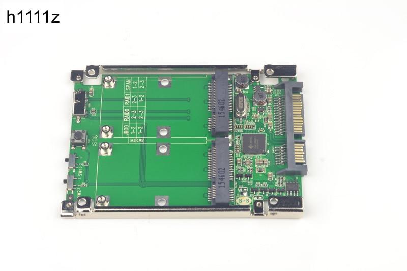 SATA 6G USB3 0 to 2x mSATA Adapter Raid Card w USB 3 0 Micro B