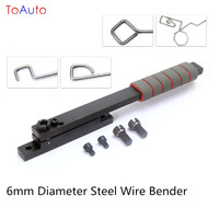 New Manual 6mm Diameter Steel Wire Bender Bending Machine Tool for Curved wire