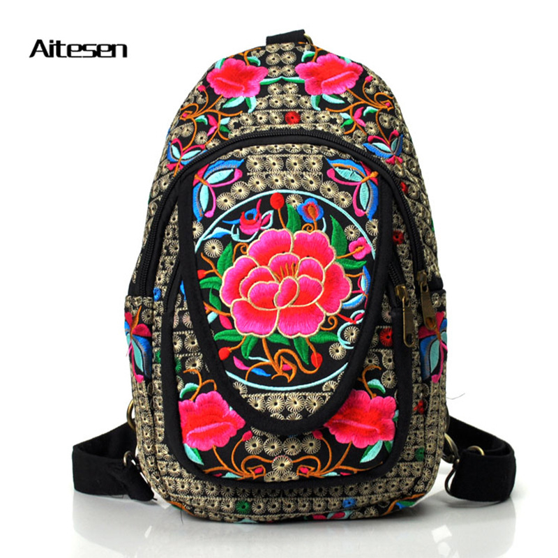 New Famous Brand backpack embroidery women features leisure shoulder bag pouch multifunction rucksack backpack