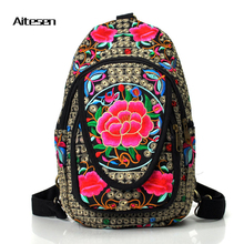 Новый Известный Бренд рюкзак вышивка женщин возможности отдыха плечо сумка многофункциональный рюкзак рюкзак