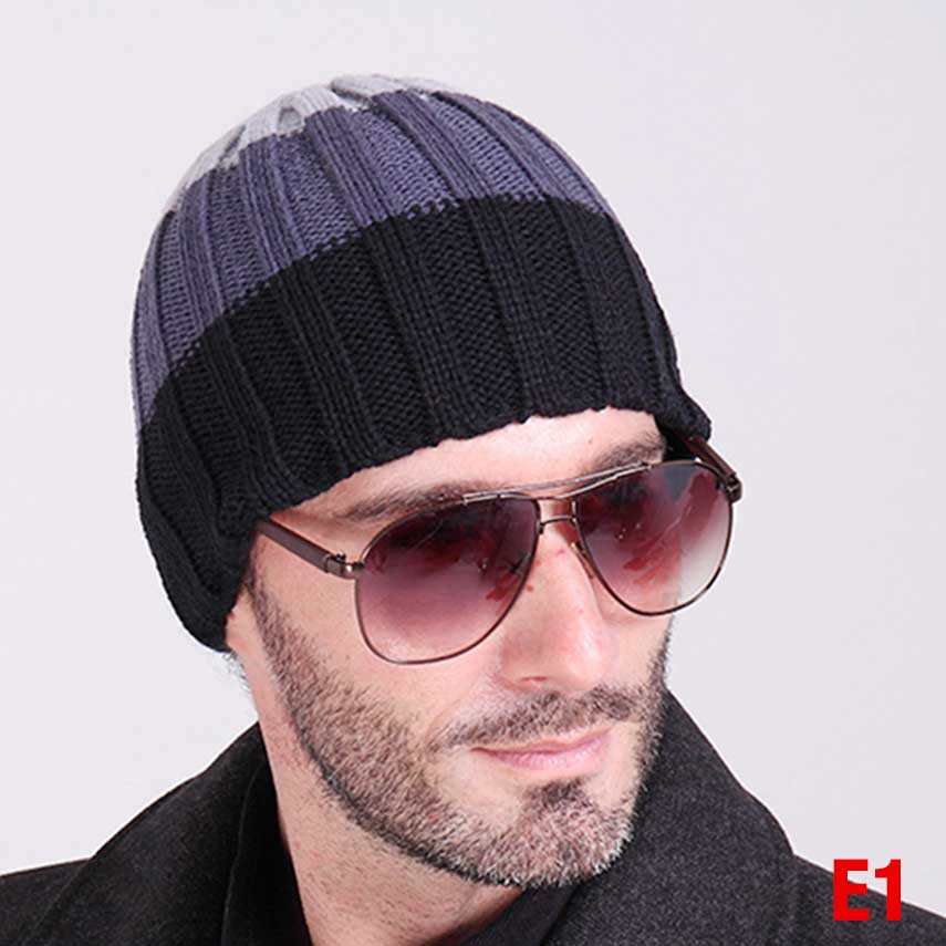 6a7e3b21 US $3.52 |Autumn and winter man hats slouchy beanie hat crochet pattern  winter children skullies beanies plain black mens beanie hats-in Skullies &  ...