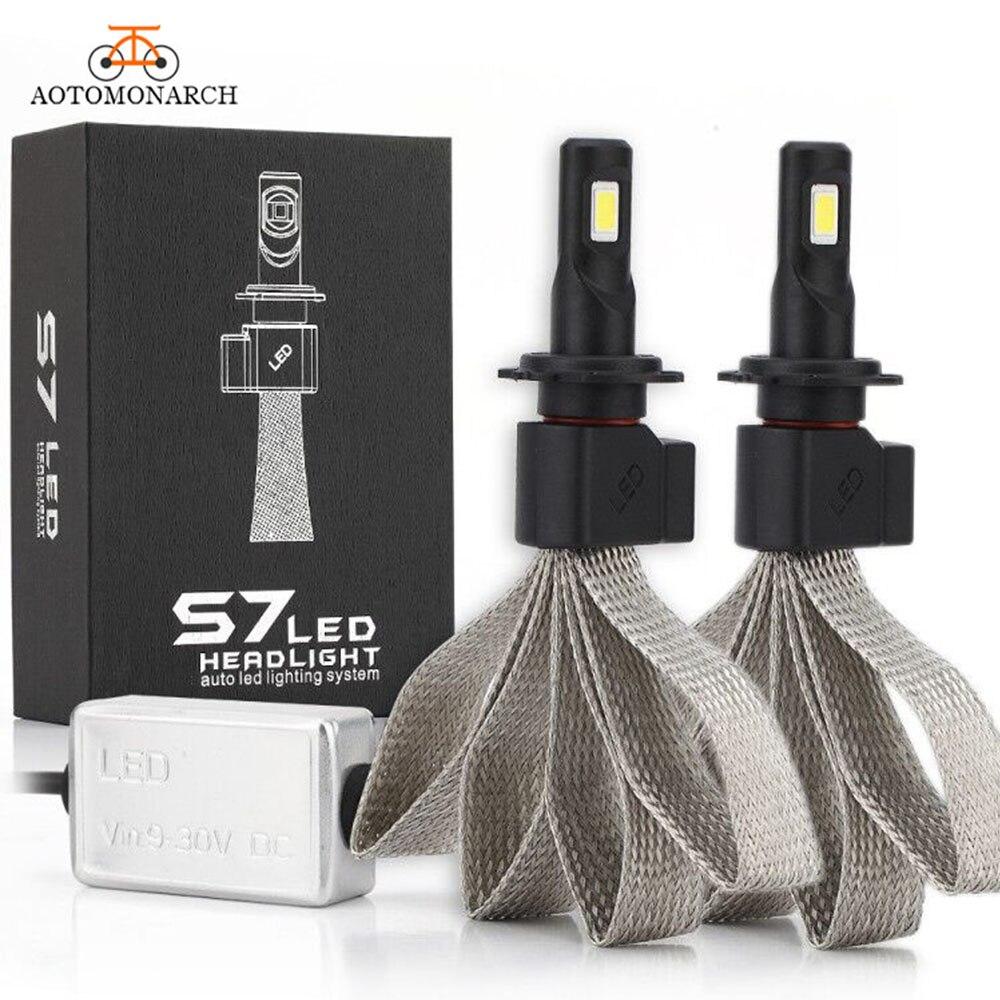 2 шт., Автомобильные светодиодные лампы H7 H4 H1 H3 H8 H9 H11 9005 9006 9007 880 H27 12 В 881 лм