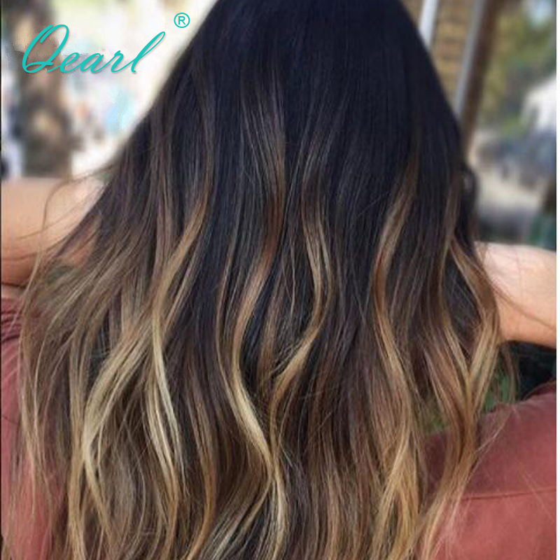Flight Tracker Lace Front Human Hair Wig Brazilian Remy Hair 13x4 Natural Wave 1b/4/27# Blonde Pre Plucked Hairline Baby Hair 130 Density Qearl Hair Extensions & Wigs Human Hair Lace Wigs