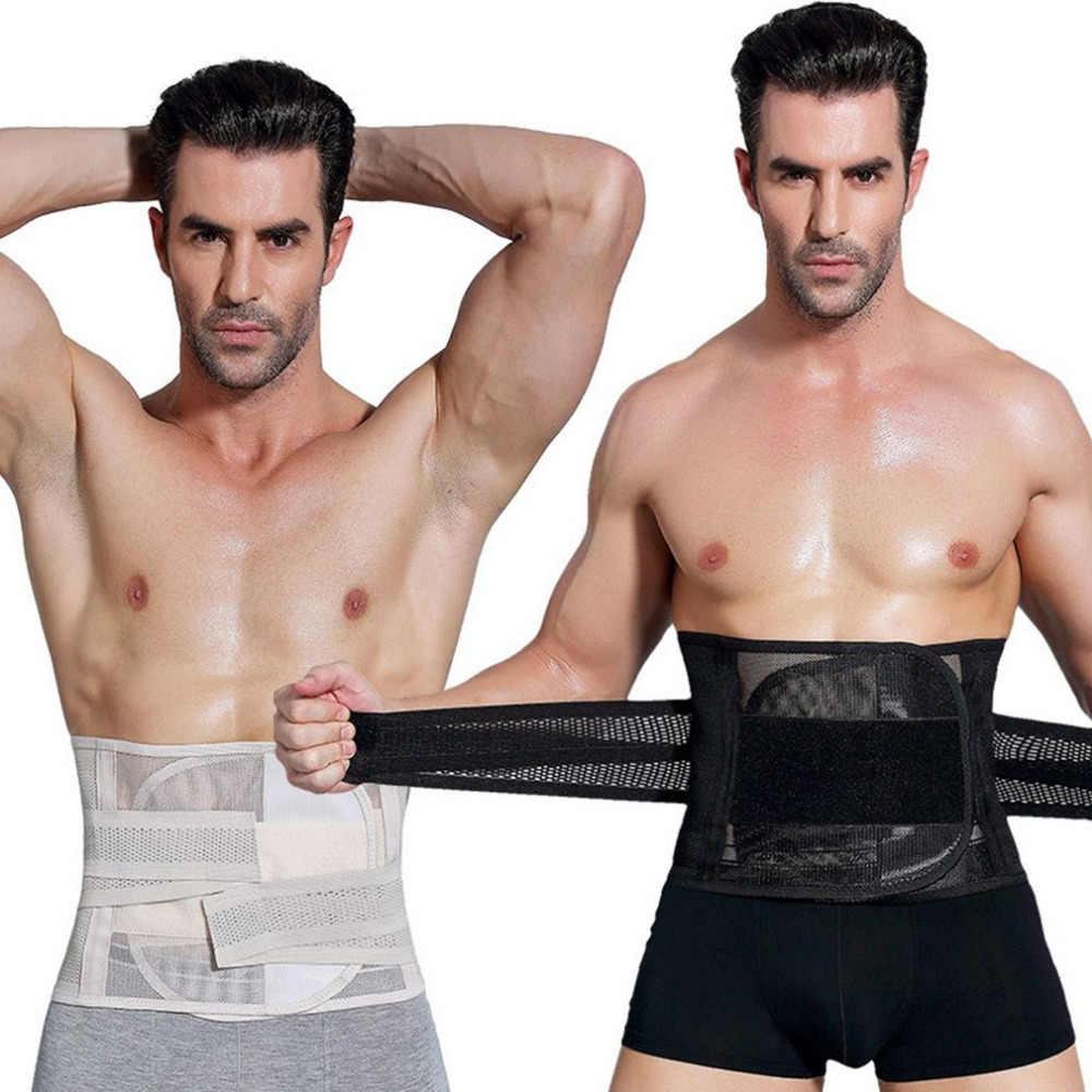 Męskie urządzenie do modelowania sylwetki gorset brzuch kontrola brzucha gorset Waist Trainer Cincher spalanie tłuszczu pas wyszczuplający pas ciążowy dla mężczyzn