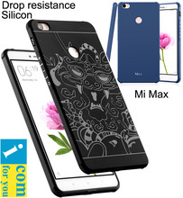 Drop resistance anti hit Shock Silicone Case Cover For Xiaomi Mi Max 2 Max2 Matte Frosted 3D Dragon Armor Cartoon Protector