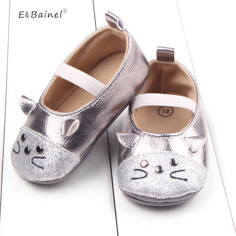cc4554e71f40 Baby Shoes Cute Little Mouse Pattern Princess Baby Soft Shoes For Girl Infant  Shoes PU Leather Baby Moccasins 3 size