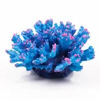 Magic Blue Red Artificial Coral High Simulation Resin Sea Marine Coral Reef For Fish Tank Aquarium