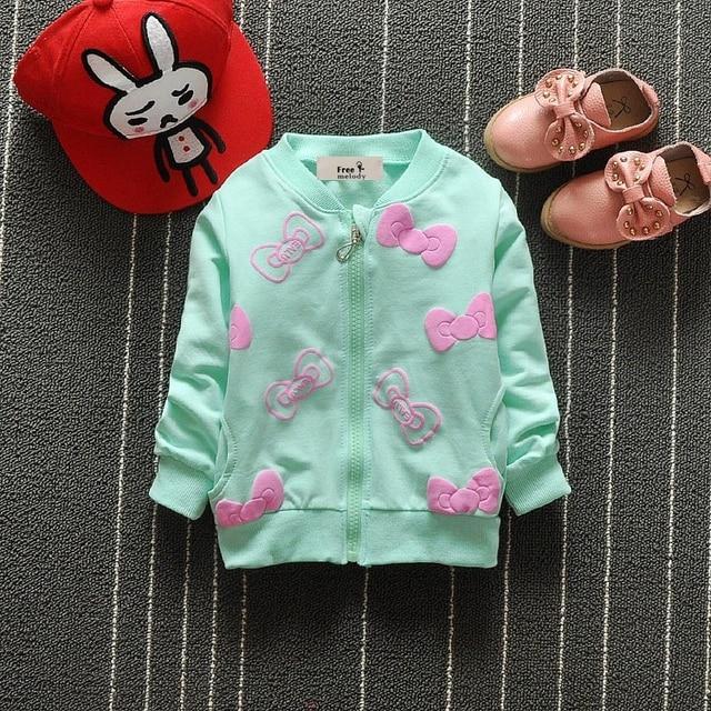 Детские Дети Обувь для девочек весна осень Audel хлопковая куртка на молнии бабочка узел печати пальто для 70-95 см Высота кардиган G175