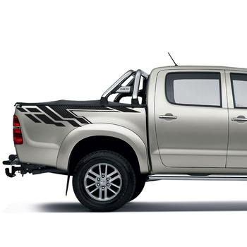 цена на Car accessories 2 Pcs tail door racing styling gradient graphic vinyl car sticker fit for toyota hilux revo vigo 2012 -2019