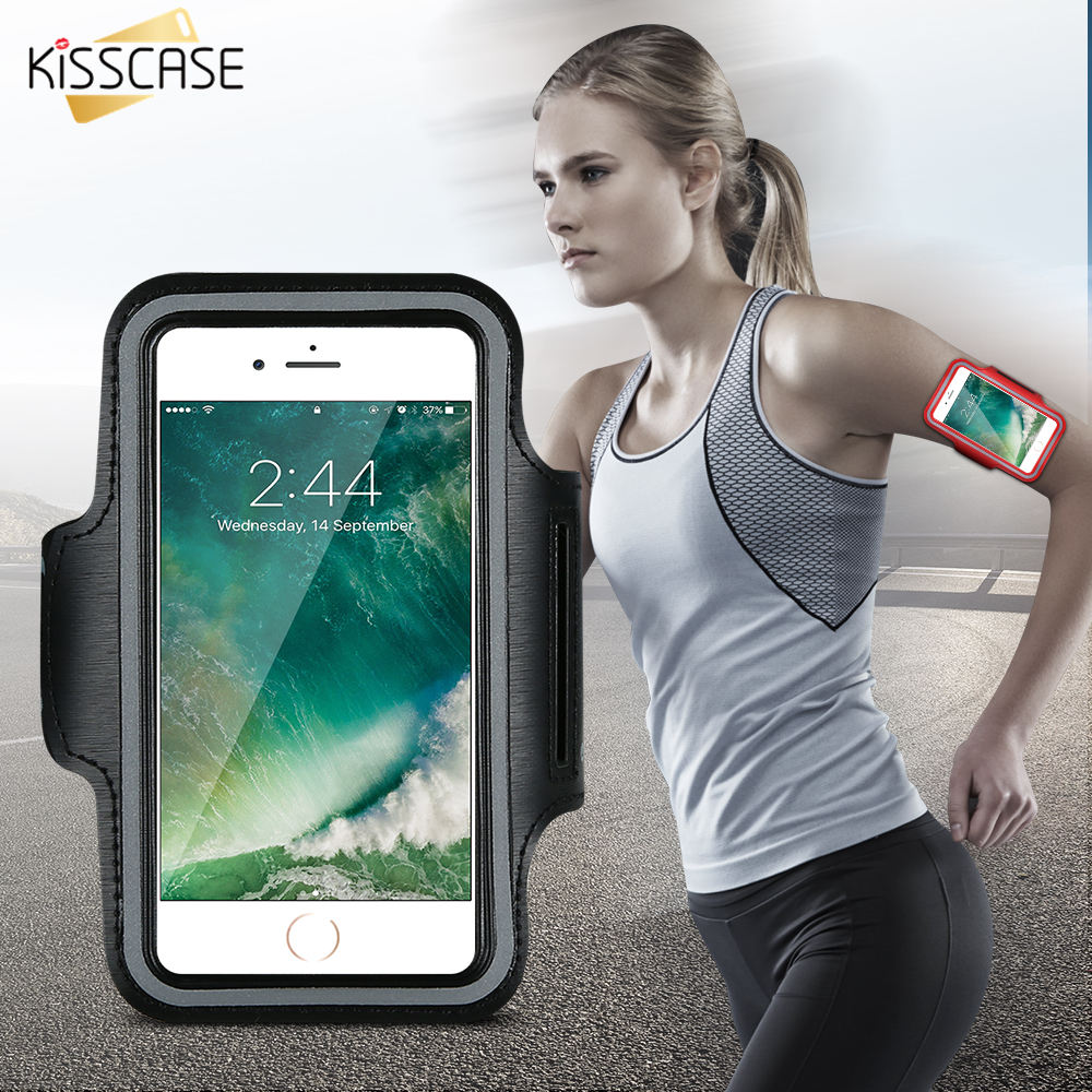 KISSCASE Funda impermeable para brazalete deportivo para iphone 6 6s i6 Gymnasium Actividades Accesorios Running Phone Pouch Cover Arm Band