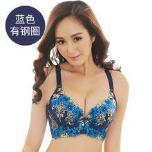 new fashion style embroidery push up bra big size female underwear bralette thin cup brassiere lingerie bras for women