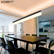 ECOBRT Modern Black LED Pendant Light Fixtures in Kitchen Indoor Living Room bedroom Vintage Hanging Lamps 80/100/120/150cm