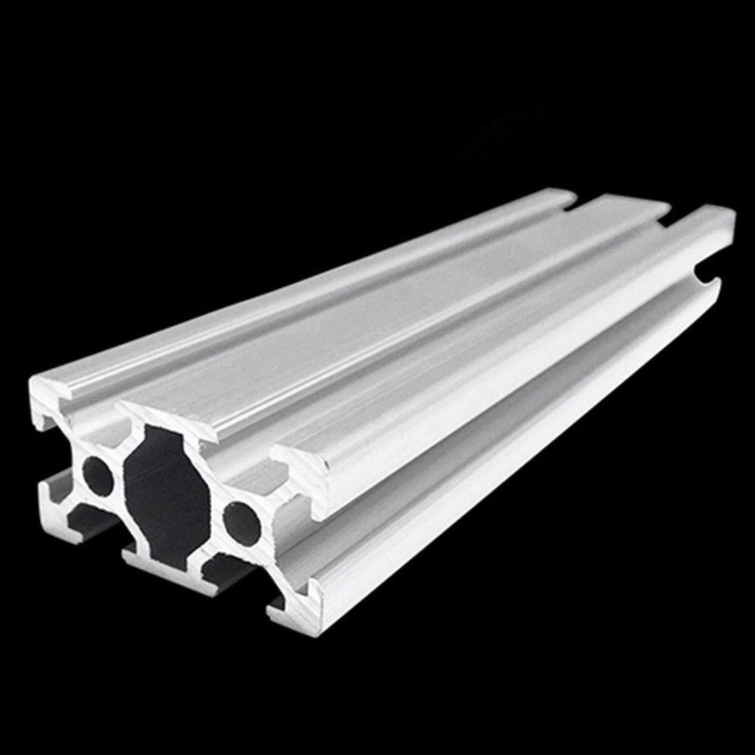 DWZ 2040 T-Slot Aluminum Profiles Extrusion Frame 500mm Length 3D Printer CNC 1 piece light grey aluminum extrusion profiles heatsink wall mounted distribution case 24x80x90mm