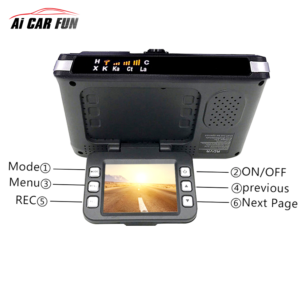 2017 Anti <font><b>radar</b></font> <font><b>detector</b></font> <font><b>Car</b></font> <font><b>DVR</b></font> camera flow detecting alarm system 2 <font><b>in</b></font> <font><b>1</b></font> 720P dash cam video recorder camcorder <font><b>car</b></font>-<font><b>detector</b></font> image