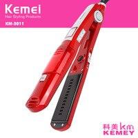 Kemei Professional Vapor Hair Straightener Comb Brush Flat Iron Ceramic Hair Iron Electric Hair Straightening Steam