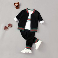 Free Shipping 2018 NEW Autumn Spring 3pc Outfit Baby Boys Clothes Children S Clothing Jacket T