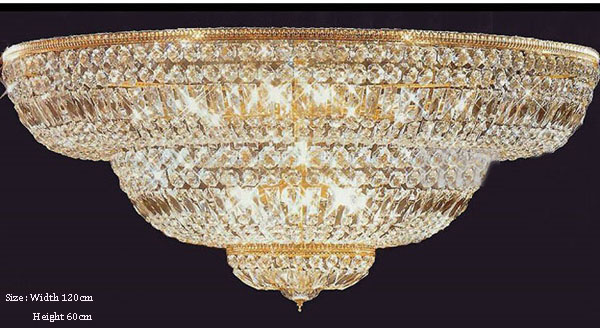 Phube Lighting Large Foyer Entryway Crystal Ceiling Light French Empire Gold Crystal Flush Mounted Light +Free shipping! ...