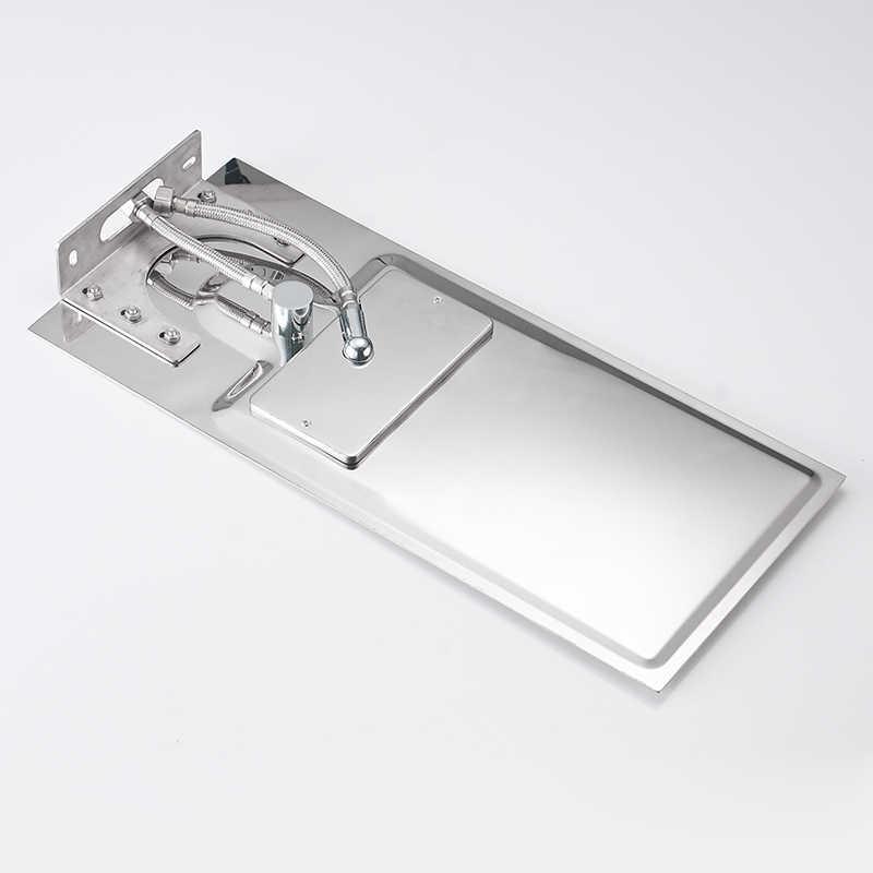 BAKALA прямоугольная Душевая насадка из нержавеющей стали для ванной хромированный верхний опрыскиватель высокого давления дождевой Душ