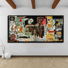 Cuadros Decoracion Painting Notary Jean Michel Basquiat neo expressionism For Graffiti Art Print On Canvas For