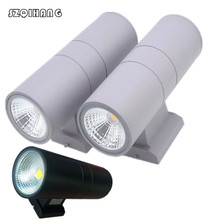 6pcs 2*5W/2*10W/2*15W/2*20W COB LED wall light Double Outdoor Wall Light Lamp outdoor waterproof IP65