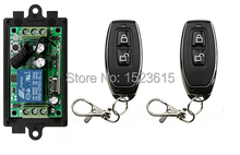 High quality DC 12V 1CH 10A RF Wireless Remote Control Switch teleswitch With 2pcs metal Transmitter For Learning code