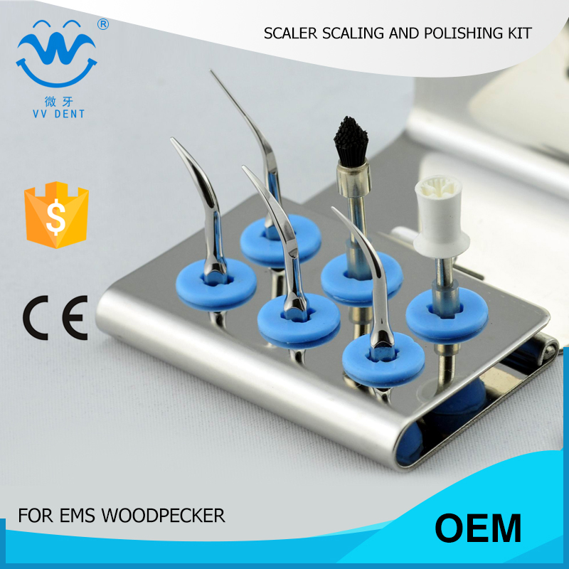 5 SETS ESPKS home dental polisher kit dentists and patient personal use,EMS WOODPECKER oral hygiene in teeth whitening 3 in 1 teeth whitening led dental tool kit oral hygiene care mirror