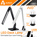 Aukey 4 modos regulable dimmer lt-t1 2a puerto de carga usb con ajustable de $ number niveles-cuidado de los ojos lámpara de mesa de escritorio del led luz de lectura