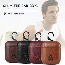 For Airpods Cover Stone Texture PC + PU Leather Cases For Air pod Protector Shell For Apple Earpods Covers For AirPod Skin