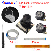 Raspberry Pi 3 Camera Focal Adjustable Night Vision Camera Module IR Sensor Light Acryclic Holder FFC