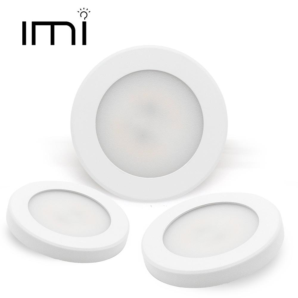 Mini LED Downlight Ultra-thin 3W 5W 7W 220V Surface Mounted Lamp Panel Light Indoor Lighting Closet Cabinet Spot light image
