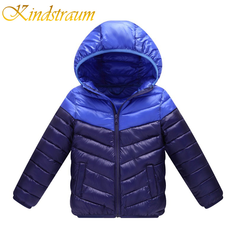 Kindstraum 2017 New Brand Kids Winter Jackets Cotton Casual Hooded Coat for Boys Girls Children Patchwork Colors Outwear, MC811 kindstraum 2017 fashion kids winter jacket cotton new boys girls warm hooded coat children casual dinosaur outwear printed mc802
