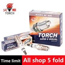 4pcs/lot China original TORCH Iridium Platinum spark plugs Q6RTI-13 for FORD C-MAX/FOCUS II/GALAXY/MONDEO III/MONDEO IV/S-MAX