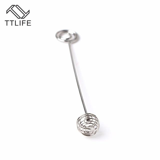 TTLIFE Edelstahl Spirale Design Honig Rührstab Mischen Sticks ...