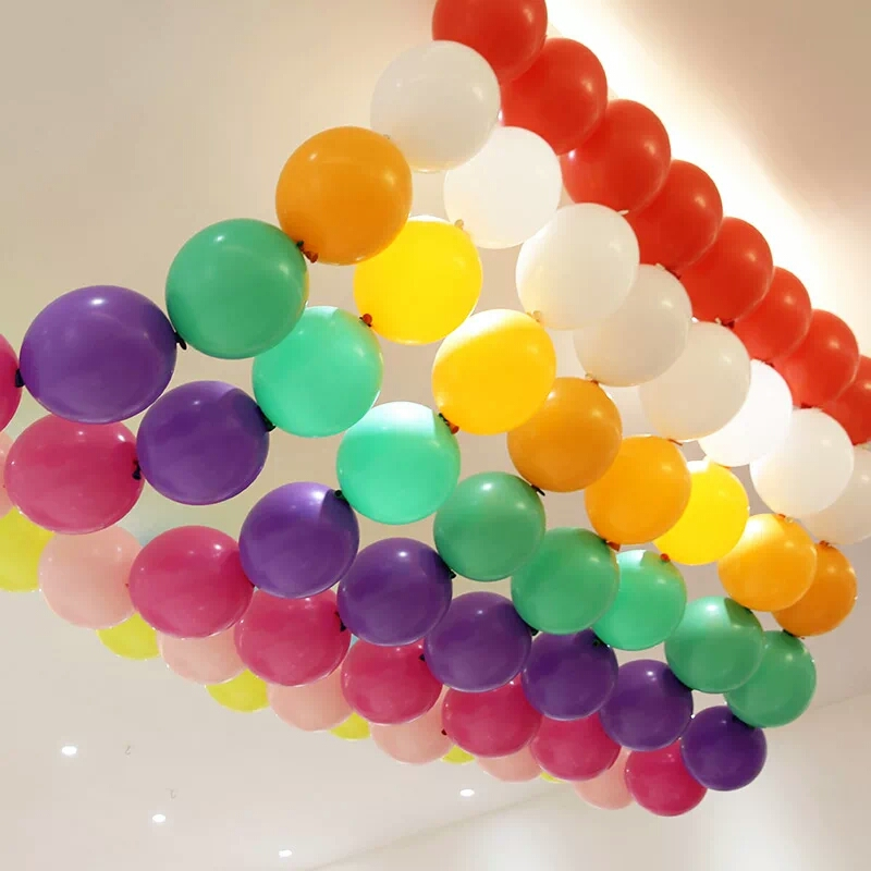 30 pcs/lot 10 Inch Finger Balloon Tail Balloon Tip balloon Wedding Birthday Party baby Toy Candy color Mixed link balloon decor