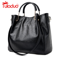Women Shoulder Bags Genuine Leather Ladies Famous Brand Design Handbag 2017 Spring Female Large Capacity Tote