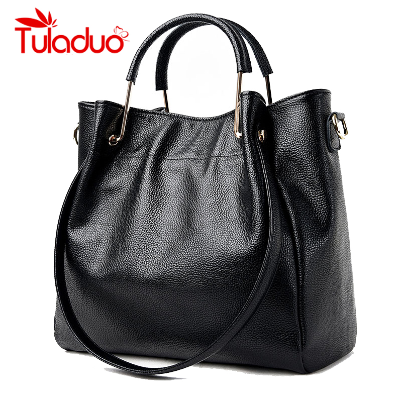 Women Shoulder Bags Genuine Leather Ladies Famous Brand Design Handbag 2017 Wintr Female Large Capacity Tote Bag  Bolsos Mujer