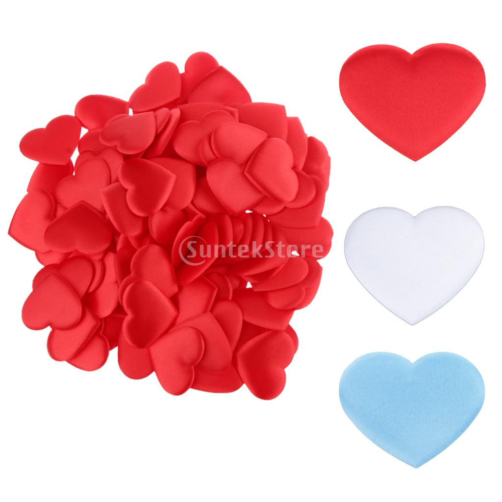 ⑧100pcs Satin Scatter Love Heart ⊰ Table Table Decoration
