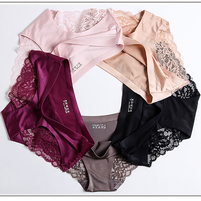 Godier 5 pcs Womens underwear women Panties briefs sexy lace slip female seamless Cotton Briefs Ladies Girls Panties M L XL ...