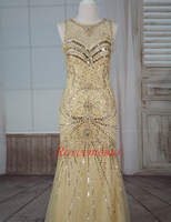 2017 Luxury beading sexy formal evening dress factory made evening gown special design prom dress Special Occasion fashion dress