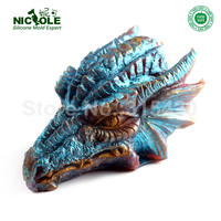 Silicone Soap Candle Mold 3D Dragon Shape Cake Chocolate Baking Tools Non stick Resin Crafts