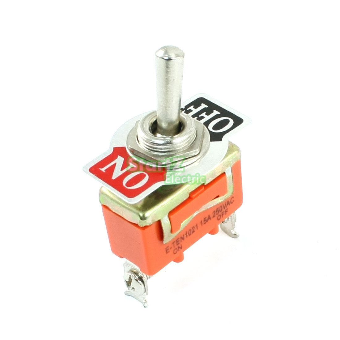 On/Off 2 Positions 2 Terminal Toggle Switch 250V 5pcs lot high quality 2 pin snap in on off position snap boat button switch 12v 110v 250v t1405 p0 5
