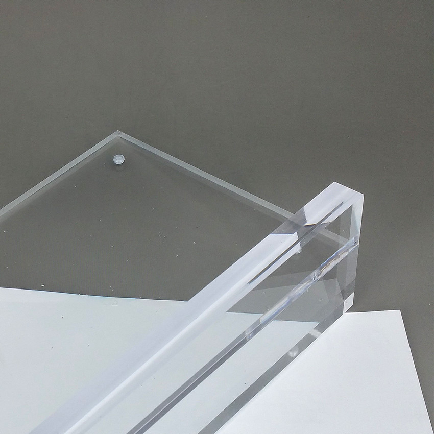 Ultimate SaleClear Acrylic A3A4A5A6 Sign Display Paper Card Label Advertising Holders Horizontal T Stands By Magnet Sucked On Desktop 2pcs